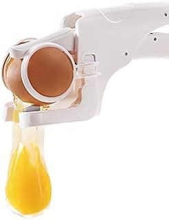 zanmini COMINHKPR131779 Easy Cracker & Separator, Egg Yolk with Dishwasher Safe,White, 8.7 x 1.4 x 3.1 inchs,