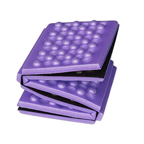 HSKB - Esterilla plegable portátil ultraligera e impermeable, para actividades al aire libre, plegable, ligera, 39 x 28,5 x 0,9 cm, morado (Morado) - JJ-123