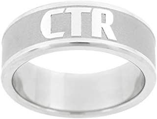 J151 LDS Unisex CTR Ring Frost Stainless Steel Size 7-13