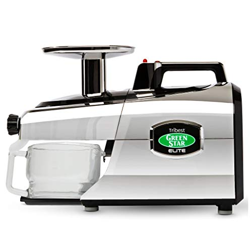 Tribest GSE-5050 Greenstar Elite Cold Press Complete Masticating Juicer, Juice Extractor with Jumbo Twin Gears, Chrome