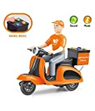 XAMILE Food Delivery Hunger Savior Swiggy Food DeliveryPlastic Pull Back Motorcycle Vehicle Toys