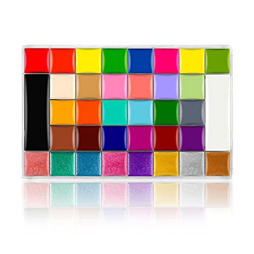 CCbeauty Face Body Paint Professional 36 Colors Face Painting Oil Cosplay Makeup...