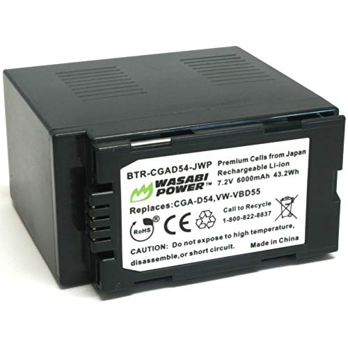 Wasabi Power Battery for Panasonic CGA-D54, VW-VBD29, VW-VBD55
