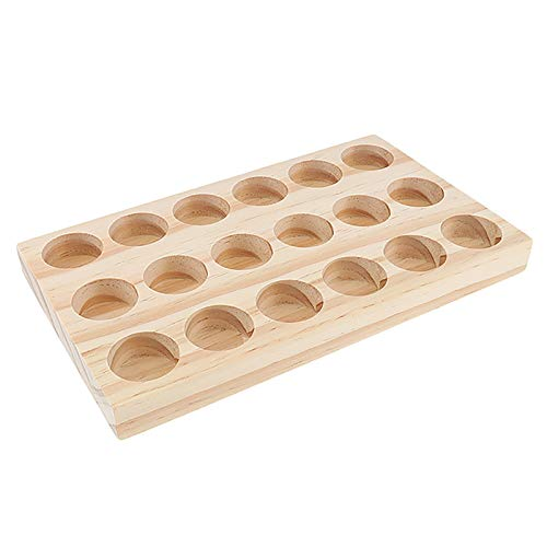 Rack de Aceite Esencial Soporte de Exhibición de Aromaterapia de Madera Caja de Almacenamiento de Cosméticos de Pino Natural para El Lápiz Labial de Aceite Esencial Perfume de Esmalte de Uñas