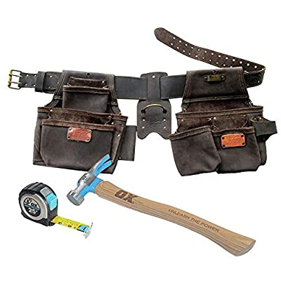 OX Tools 4 Pc Construction Top Grain Leather Rig Bonus Pack by OX Tools