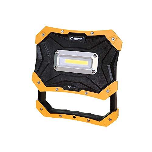 実用新案登録 グッドグッズ(GOODGOODS) 乾電池式 LED 作業灯 10W 投光器 屋外 防水 マグネット付き アウトドア 夜間作業 防災グッズ YC-N3K