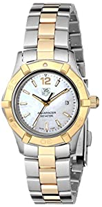 TAG Heuer Women's WAF1424.BB0825 'Aquaracer' Stainless Steel and 18k Gold Watch image
