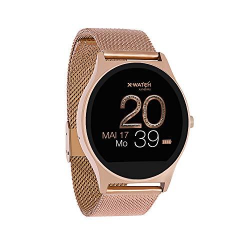 X-WATCH 54029 JOLI XW PRO - Damen Smartwatch - iOS - Schrittzähler Uhr - Fitness Gold