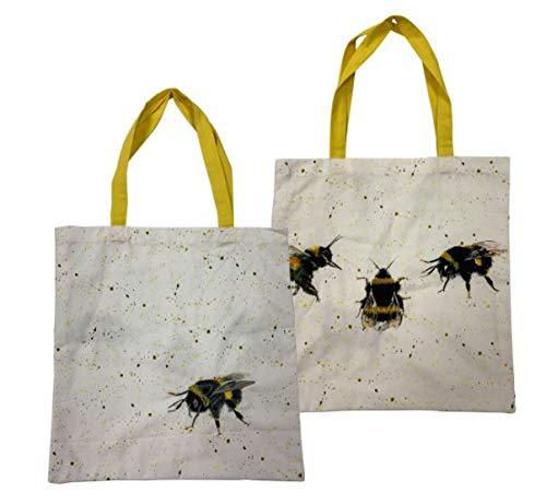 Bee Happy - Beautiful Bree Merryn Bee Design Organic Tote Bag