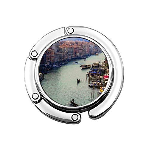 Venecia Canale Grande City Arcoíris Postres Gancho para Monedero Plegable Perchas para...