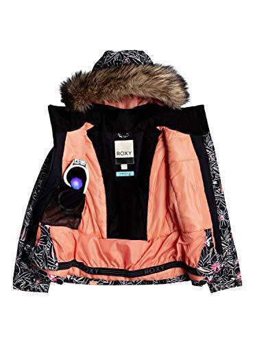 Roxy Mädchen Schneejacke Jet Ski - Schneejacke für Mädchen 8-16, true black outlines, 14/XL, ERGTJ03104