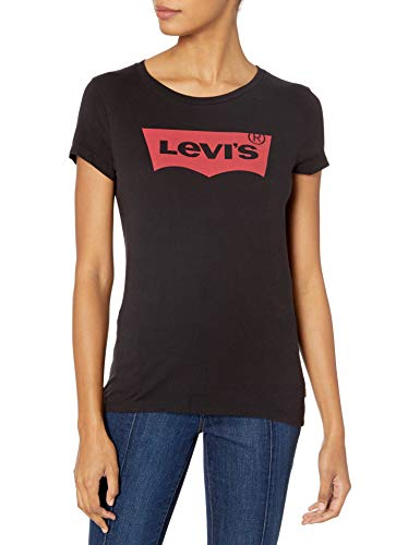 Levi's Slim Mujer Cuello Redondo Camiseta de Manga Corta S
