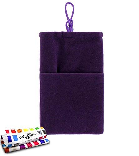 Tasche BLACKBERRY 9860 [Cocoon] [violett] von MUZZANO + Eingabestift und Reinigungstuch Muzzano® angeboten–Der Schutz stoßfest ultimative, elegante und nachhaltige für Ihr BLACKBERRY 9860