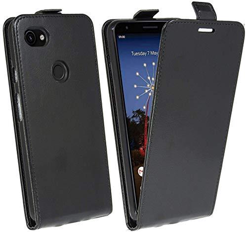 cofi1453® Flip Hülle kompatibel mit Google Pixel 3A XL Handy Tasche vertikal aufklappbar Schutzhülle Klapp Hülle Schwarz