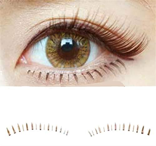 Dorisue Bottom lashes Natural Lower lashes Bottom eyelashes Black or Brown Eyelashes natural look face lashes set 10 Pairs lashes pack