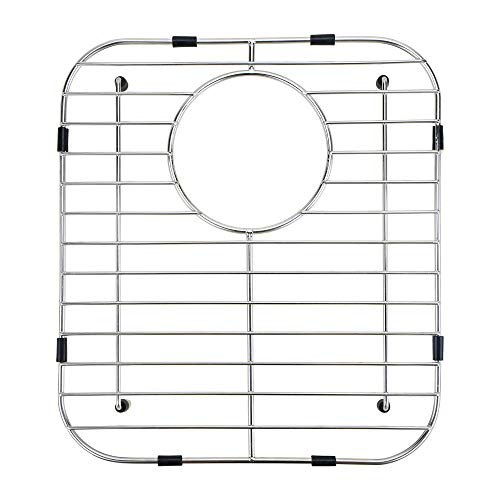 """Kitchen Sink Protector for Kitchen Sink - 13.1"""" x 11.6"""" - Premium Stainless Steel Protective Grid - Rear Drain Hole - Protect Your Sink from Scratches- Rust-Resistant Metal Accessories"""