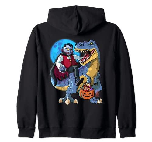 Conde Drcula T-Rex Halloween Nios Dinosaurio T Rex Vampiro Sudadera con Capucha