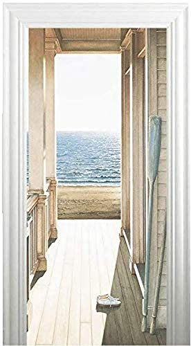 Türtapete Selbstklebend - Türaufkleber 3D TürPoster Selbstklebend Wandbild - Fototapete Türfolie Poster Tapete - Abnehmbar Wandtapete Wohnzimmer PVC Wasserdichte Wallpaper Wandwandaufkleber
