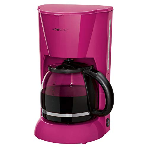 Clatronic KA 3473 Filterkaffeemaschine für 12-14 Tassen, Nachtropfsicherung, Warmhalteplatte, Abschaltautomatik, Wasserstandsanzeige, Brombeer
