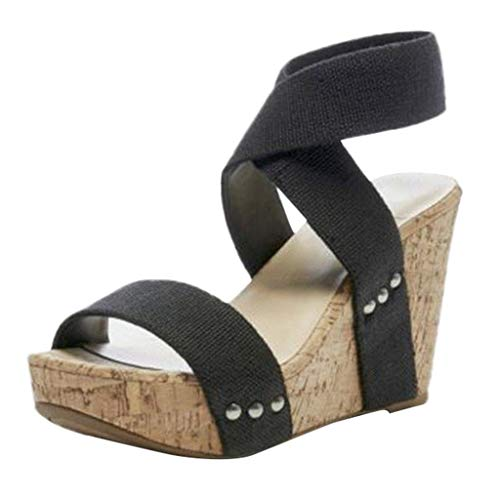 Luckycat Sandalias De Mujer, Verano CuñAs Flor Zapatillas Plataforma Impermeable Mujeres Sandalias CuñA Sandalias Zapatillas Zapatos