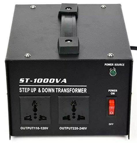 ZooTek 1000 Watt Voltage Transformer- Step Up and Down- Circuit Breaker Protection Universal Dual Output Step Up & Step Down Power Transformer 110V to 220V/220V to 110V