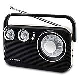 ADESSO(アデッソ) ラジオ AM FM レトロ デザイン レッド RA-601RD