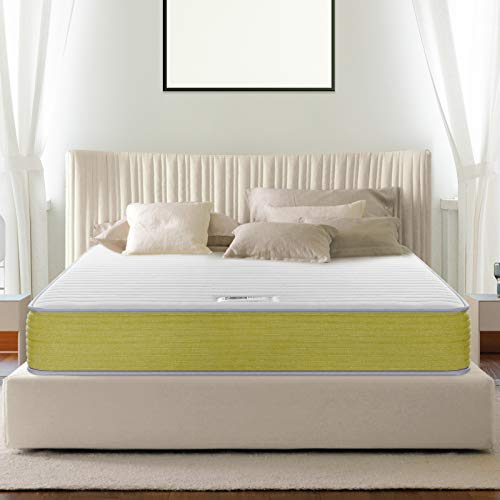 BedStory 10 Inch Innerspring Hybrid Mattress Compressed in a Small Box,Pocketed Coil...