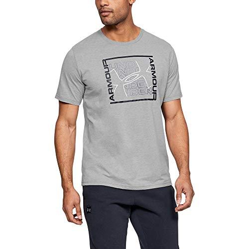 Under Armour Herren Rhythm T-Shirt, Steel Light Heather, 3XL