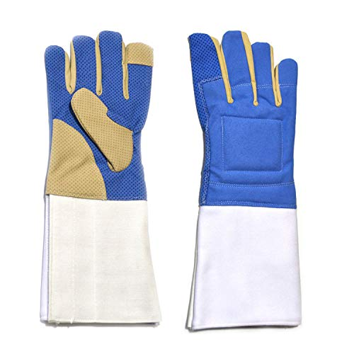 LEONARK Fencing Gloves for Foil Epee and Saber - Mittens for Fencing Match and Bout Practice - Professional Fencing Gear for Fencer - 1 Pack (Basic Right, M)