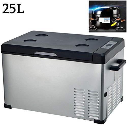 Compressor Koeler Autokoelkast 24V / 12V / 220-240V (15L / 20L / 25L / 30L / 40L / 50L / 75L) Mini-koelkast Autokoelkast voor auto Camping Vakantie, vrije tijd en werk, 25L