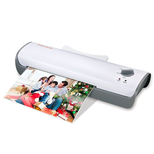Bonsaii A4 Laminator, Thermal and Cold Laminating Machine with 3-min Quick Warm-up, Max 230mm (A4 Size) for Documents, Photos and Cards,Jam-Release Switch,White(L407-A)