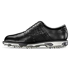 FootJoy Men's DryJoys Tour Previous Season Style Golf Shoes, Black/Black Croc, 8 M US