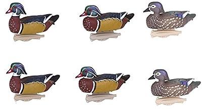 Flambeau Classic Wood Duck Decoys - 6 Pack