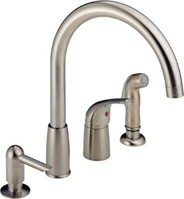 Wide Spread Single Handle Waterfall Kitchen Faucet