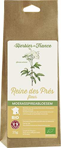 L'Herbier de France Reine Dès Prés Fleurs Bio Sachet Kraft 25 g - Lot de 3