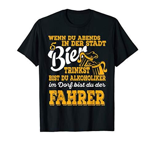 Bier Design für Kneipe Dorffest oder Feier auf dem Land T-Shirt