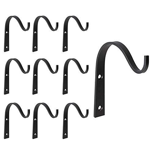 Sweetichic Iron Hanger Wall Hooks, Metal Heavy Duty Plant Hanger Bracket Coat Hook Decorative Hook for Hanging Lantern Planter Bird Feeders Coat Rustic Home Decor
