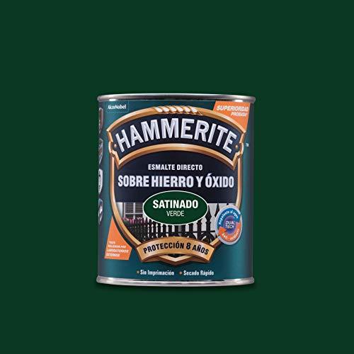 Hammerite Esmalte directo sobre hierro y óxido Satinado Verde 750 ml