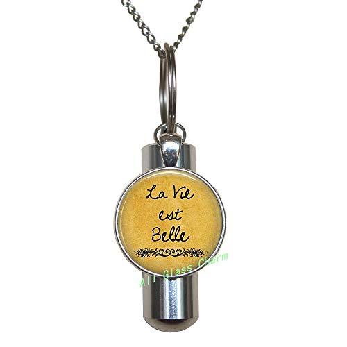 AlloGlassoO0Charm La Vie est Belle-Life is Beautiful-Optimism-Felicidad-The Good Life-French Cote Jewelry,AS116