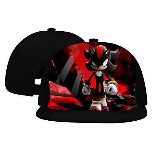 Hip-Hop Baseball Cap Sha-Dow The Hed-ge-Hog Full Print Adjustable Trucker Sun Visor Cap Black