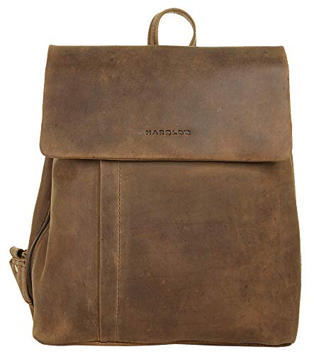 Harold's Rucksack Large 32 x 30 x 9 cm Rind-Leder City-Rucksack Daypack braun 418303