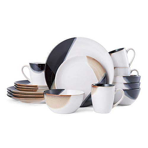 Gourmet Basics by Mikasa Caden 16-Piece Dinnerware Set, Service for 4 - ,Assorted