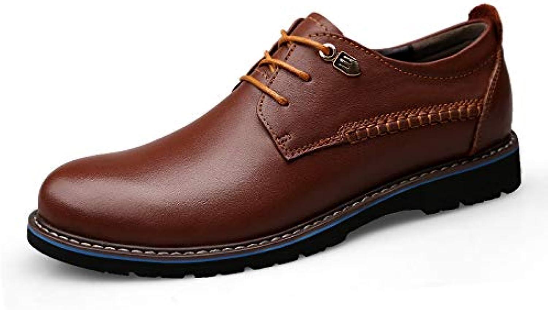 LOVDRAM Casual shoes Dress shoes Men'S shoes Summer Pu New Men'S Business Tide Head Layer Men'S
