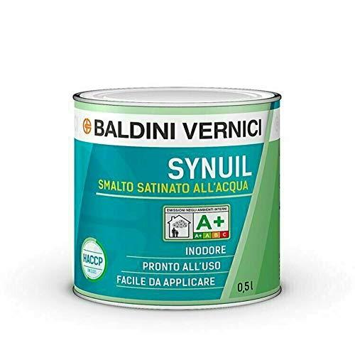 Smalto satinato all'acqua Synuil Baldini Vernici 500 ml Bianco smalto satinato bianco all'acqua