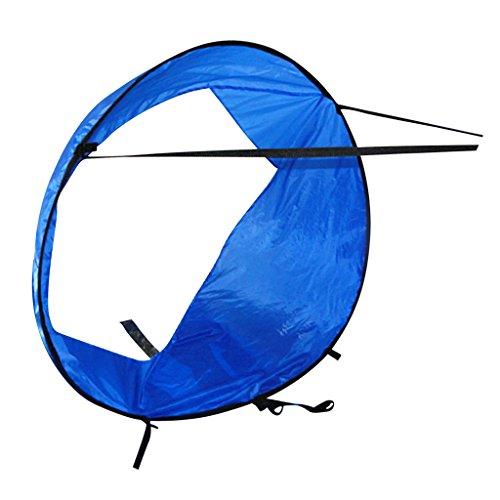 Toygogo - Kit de toldo de Viento Plegable y Compacto (118 cm) para Kayak, Canoa, Accesorios instantáneos con Portador portátil, Azul