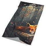 Roman Lin Forest Fox Background Headband Bandana Outdoor Multifunctional Headwear,Magic Scarf for Men Women 19.7x9.85(inch)/50x25(cm)