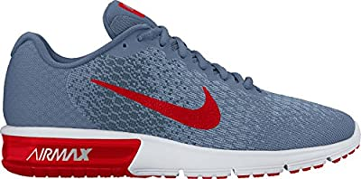 Nike Men's Air Max Sequent 2 Running Shoe Ocean Fog/University Red/Squadron Blue Size 11.5 M US