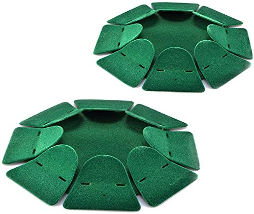 2pcs Green All-Direction Golf Training Hole Practing Cup Aid Golf Putting Cup Golf Practice Hole Durable Flocking Aid Indoor/Outdoor for Home Office Gym Thanksgiving Christmas Birthdays Men Women
