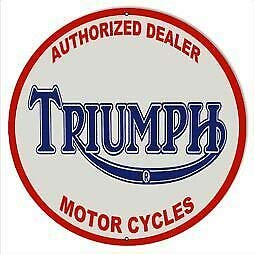 Lotusworld New Sign Triumph Motorfiets Dealer Ronde 12x12 inch verkeersbord