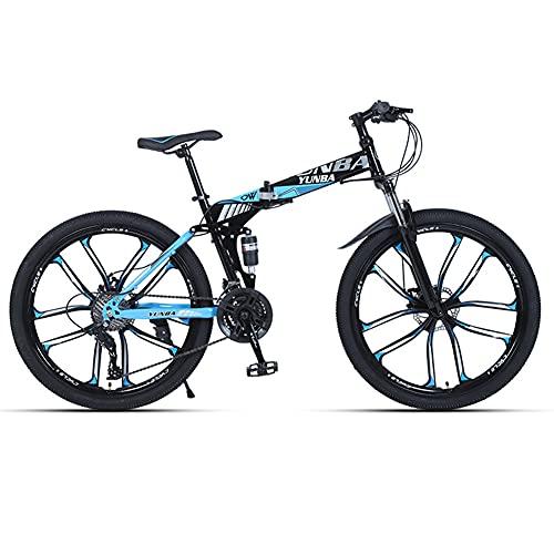 Liu Yu·casa creativa Plegable Bicicleta De Montaña, Bicicleta De Carretera Todo Terreno para Adultos 26 Pulgadas 21/24/27/30 Velocidad Variable Absorción De Impactos, Estudiantes Adolescen